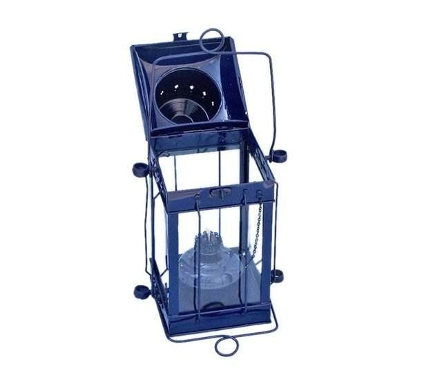 Iron Cargo Oil Lamp 18 - Dark Blue