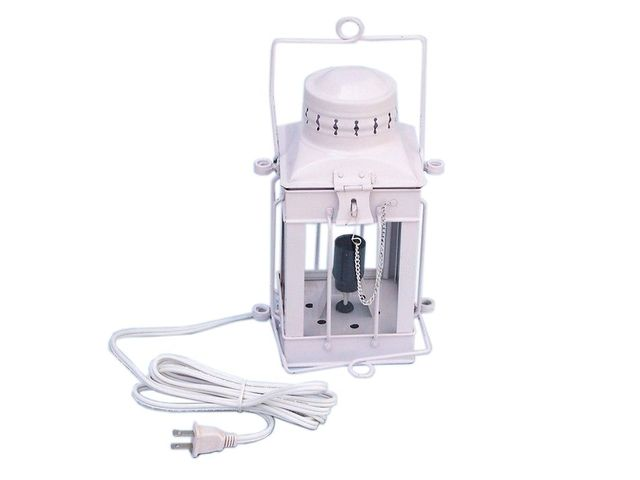 Iron Cargo Electric Lamp 11andapos; - White