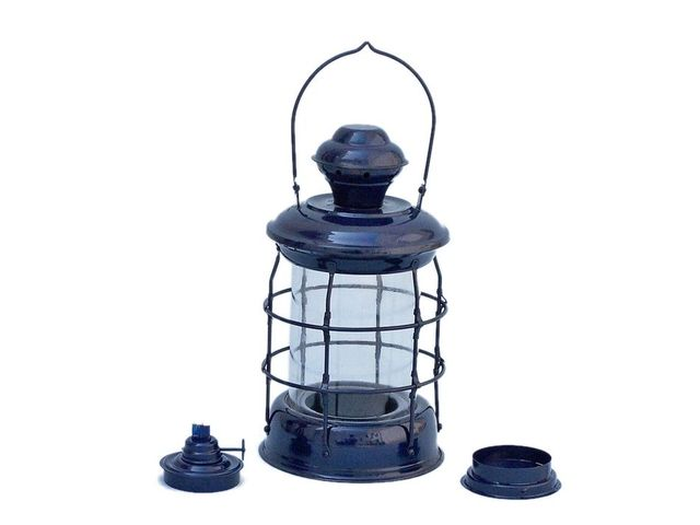 Iron Admiral Nelson Oil Lamp 12 - Dark Blue