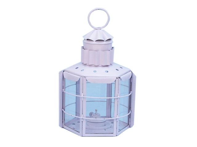 Iron Clipper Oil Lamp 15 - White