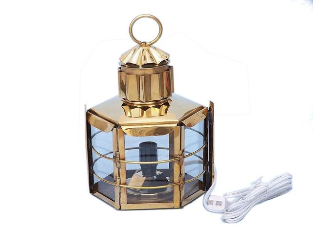 Solid Brass Clipper Electric Lamp 11