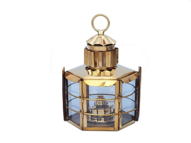 Solid Brass Clipper Oil Lamp 15
