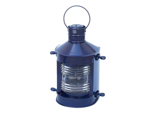 Iron Masthead Oil Lamp 12 - Dark Blue