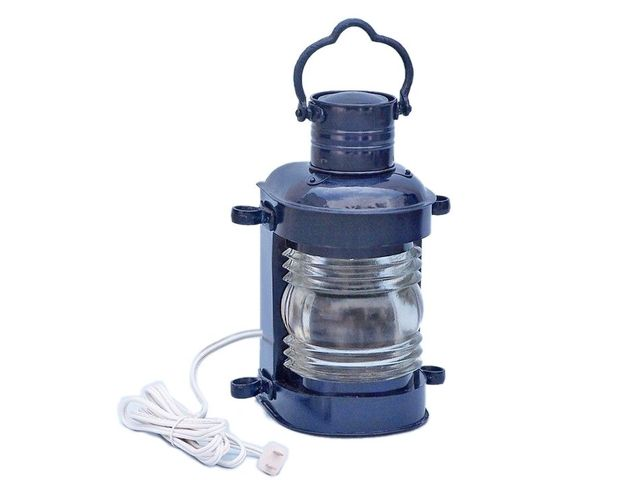 Iron Masthead Electric Lamp 14 - Dark Blue