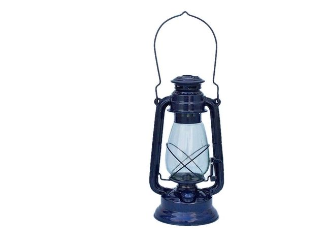 Iron Hurricane Oil Lantern 19 - Dark Blue