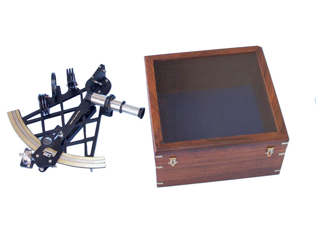 Black Micrometer Sextant with Rosewood Box 14