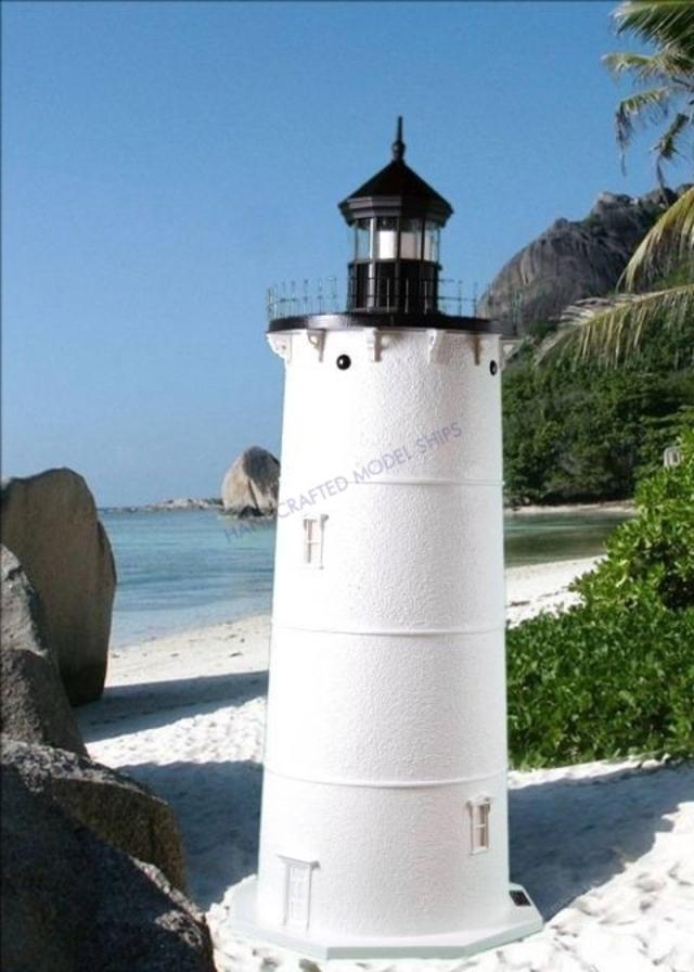 Cape Neddick Stucco Electric Lawn Lighthouse 48