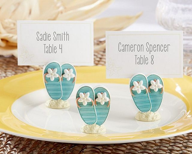 Set of 6 - Oceanfront Flip-Flop Place Card and Photo Holder 1.5