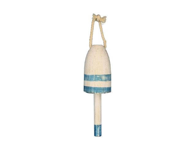 Wooden Vintage Light Blue Decorative Lobster Trap Buoy 7