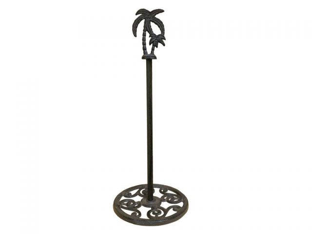 Cast Iron Palm Tree Extra Toilet Paper Stand 17