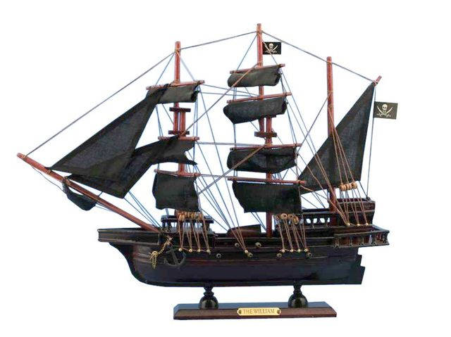 Wooden Calico Jackandapos;s The William Model Pirate Ship 14