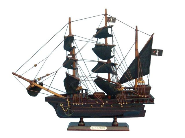 Wooden John Halseys Charles Pirate Ship Model 14