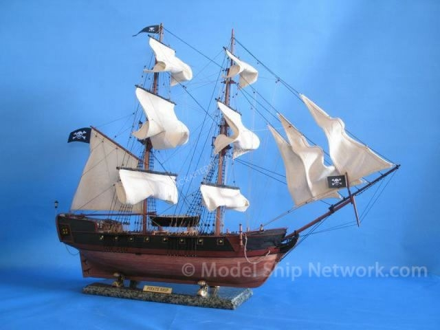 Caribbean Pirate Ship 37 - White Sails