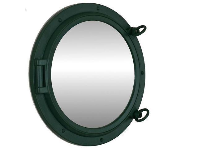 Seaworn Green Decorative Ship Porthole Mirror 15