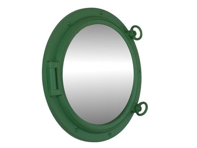 Seafoam Green Decorative Ship Porthole Mirror 15