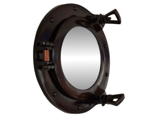 Antique Copper Deluxe Class Porthole Mirror 8