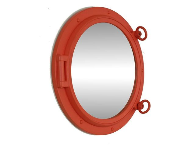 Orange Decorative Ship Porthole Mirror 15