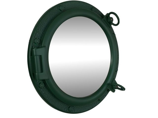Seaworn Green Decorative ShipPorthole Mirror 20