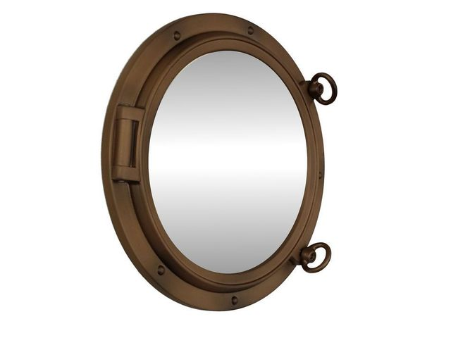 Bronzed Decorative Ship Porthole Mirror 15
