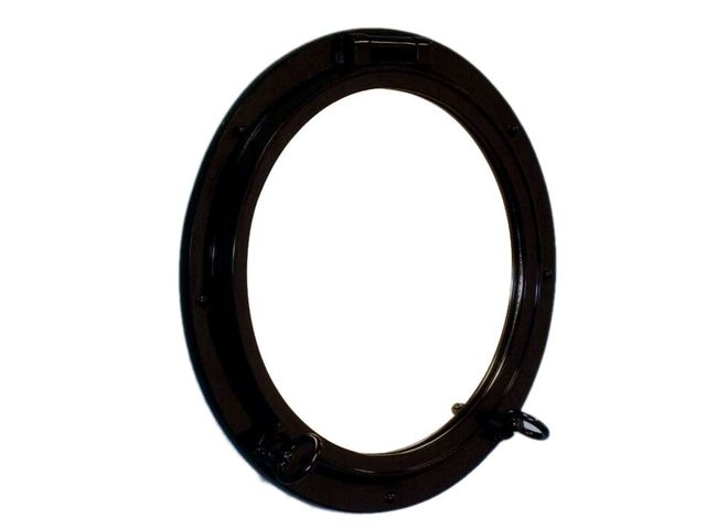 Gloss Black Decorative Ship Porthole Window 24