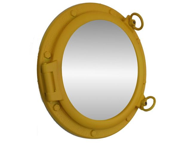 Yellow Decorative Ship Porthole Mirror 20