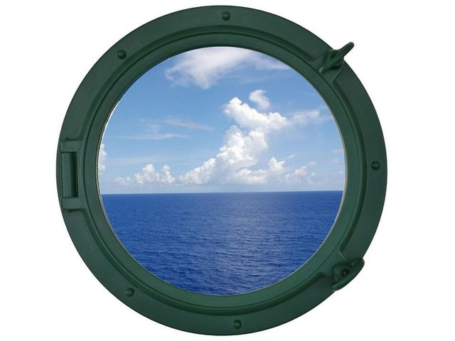 Seaworn Green Decorative Ship Porthole Window 15