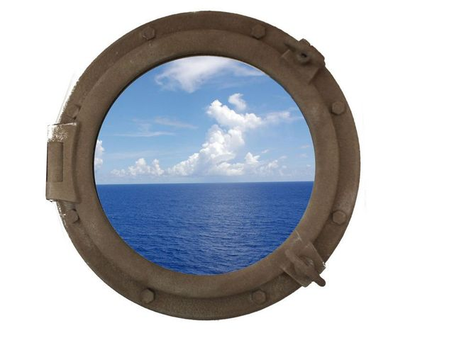 Sandy Shore Decorative Ship Porthole Window 20