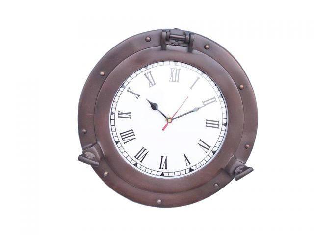 Bronze Decorative Ship Porthole Clock 12