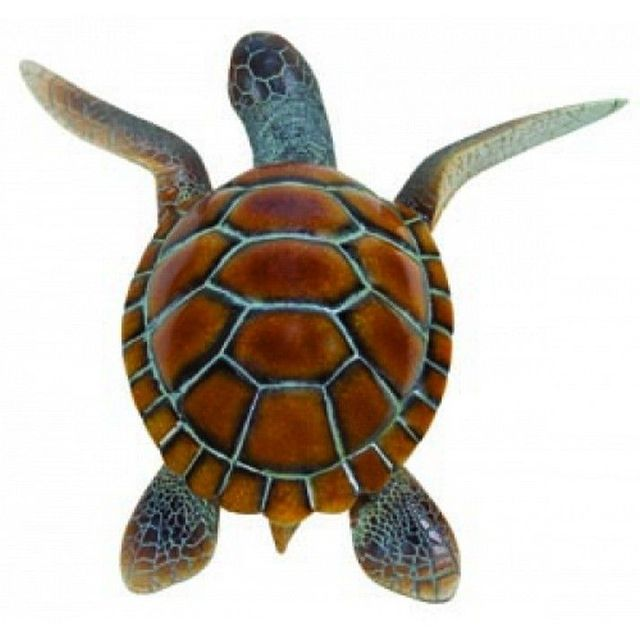 Antique Finish Resin Sea Turtle 9