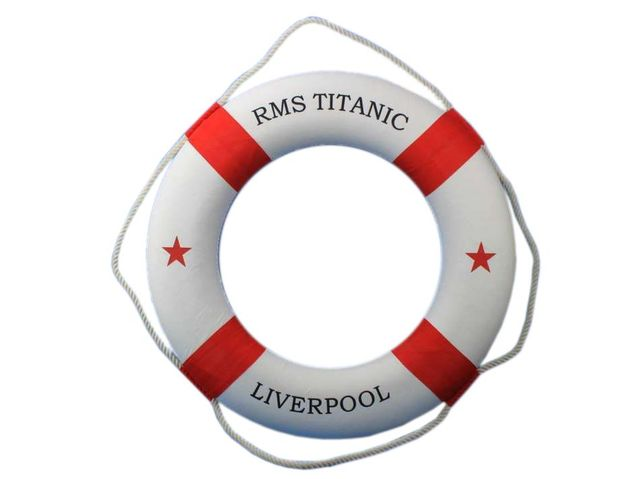 RMS Titanic Decorative Lifering 30 - Red