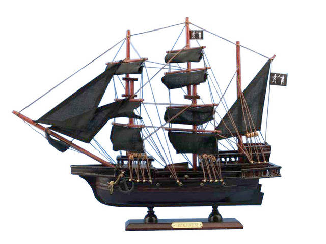 Wooden Black Barts Royal Fortune Model Pirate Ship 20