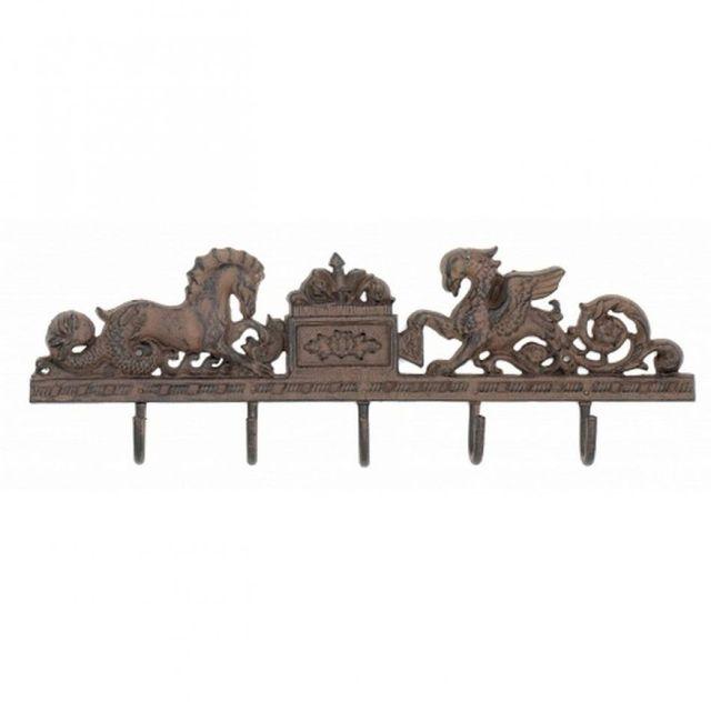 Rustic Iron Seahorse Key Rack 21