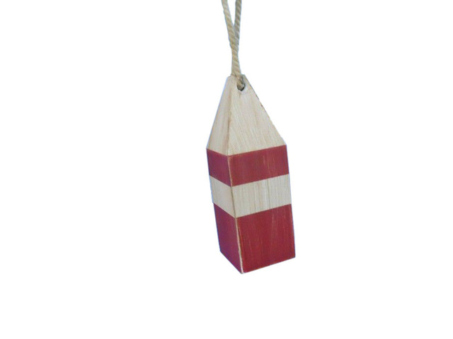 Wooden Rustic Red Chesapeake Bay Crab Trap Buoy 8
