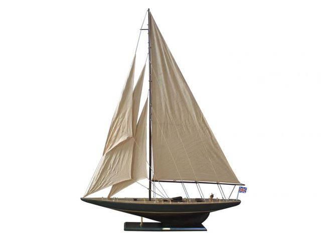 Wooden Rustic Endeavour Model Sailboat Decoration 60
