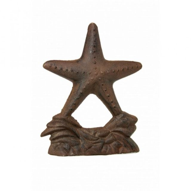 Rustic Iron Starfish Door Stop 9
