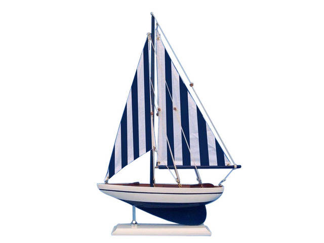 Wooden Nautical Sailer Model Sailboat Decoration 17