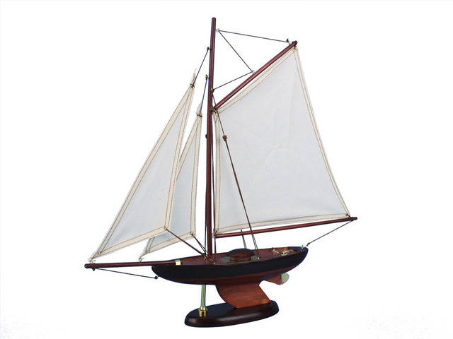 Wooden Newport Sloop Model Decoration 17