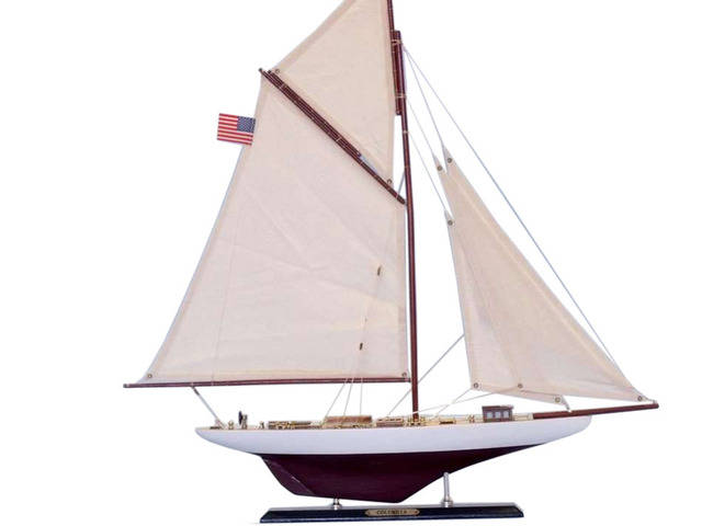 Wooden Columbia Limited Model Sailboat 25