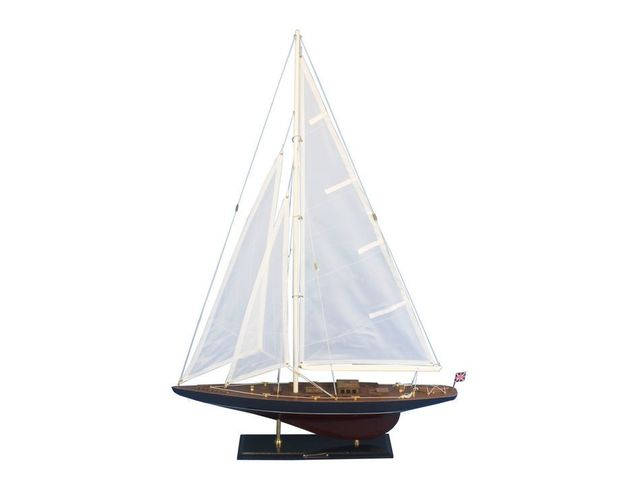 Wooden Endeavour Model Sailboat Decoration 35