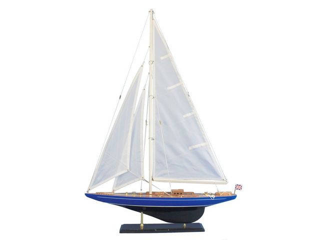 Wooden Velsheda Model Sailboat Decoration 35