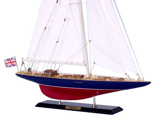 Wooden Endeavour Limited Model Sailboat Decoration 27