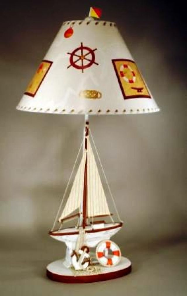 Nautical Sailboat Electric Lamp 32