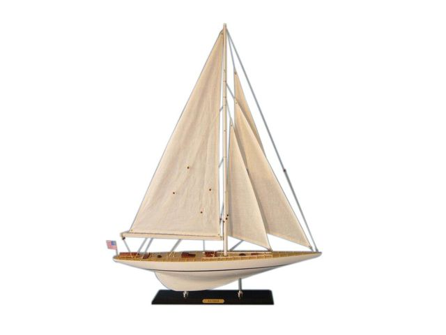 Wooden Rainbow Limited Model Sailboat Decoration 35
