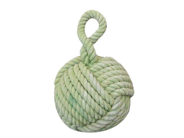 Light Green Sailors Knot Door Stop 12