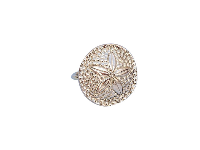 Brass Sand Dollar Napkin Ring 2