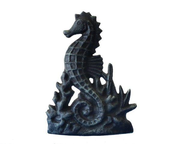Seaworn Cast Iron Seahorse Door Stop 8