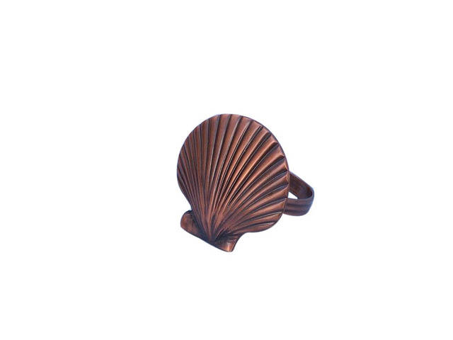 Antique Copper Seashell Napkin Ring 2