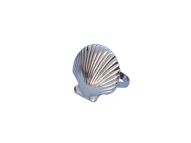 Chrome Seashell Napkin Ring 2