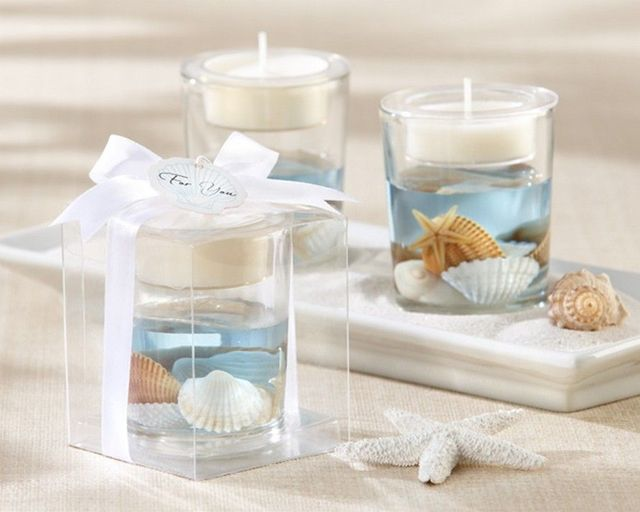 Seashell Gel Tealight Holder 3