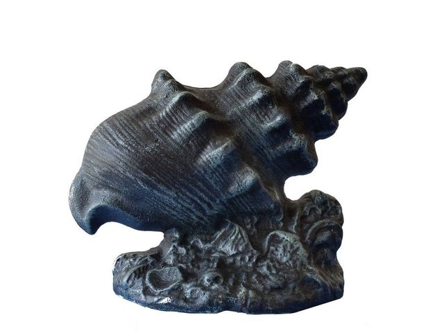 Seaworn Cast Iron Conch Shell Doorstop 9